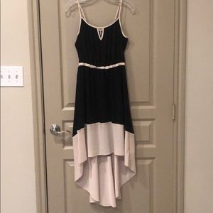 Willow & Clay Black and Cream High-Low Dress